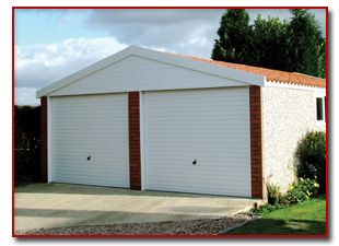 Prefabricated Sectional Garage In Garden