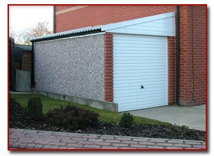 Prefabricated Sectional Garage On Side Of House